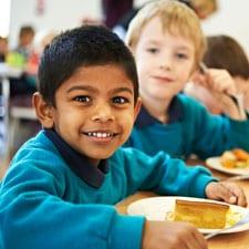 School dinners at CASTLE MEAD School